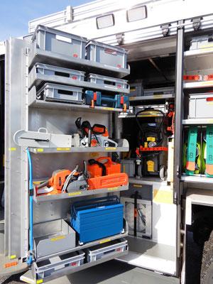Geräteraum 1 mit Schanzwerkzeug
