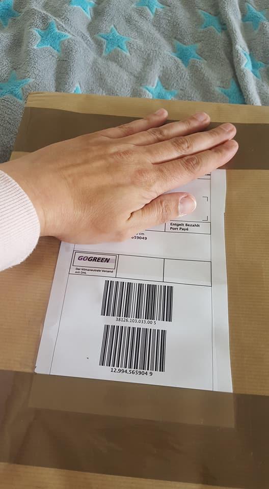 So kam das Paket an.