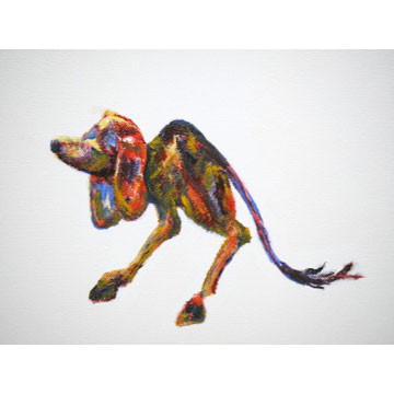 "Artist: Roger Hose | ""Kangadogcow"" | 2008 | Oil on Canvas | H:300 x W:300mm | Price: $300.00"
