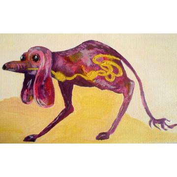 "Artist: Roger Hose | ""Internal Goings On"" | 2008 | Oil on Paper | H:210 x W:300mm | Price: $200.00"