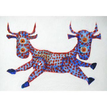 "Artist: Roger Hose | ""Hoovysaurus"" | 2008 | Oil on Paper | H:200 x W:300mm | Price: $200.00"