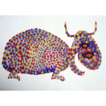 "Artist: Roger Hose | ""Blissful Beauty"" | 2008 | Oil on Paper | H:210 x W:300mm | Price: $200.00"
