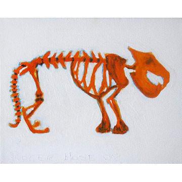 "Artist: Roger Hose | ""Carcasaurus"" | 2008 | Oil on Canvas | H:250 x W:300mm | Price: $250.00"