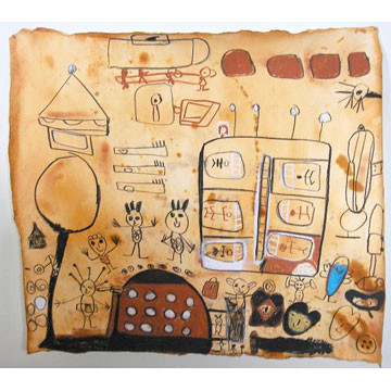 Artist: Blair Kyle | New Zealand | Untitled | Pastel on Paper | H:650 x W:670mm | Price: $325.00