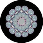 Mandala mit bunten Seifenblasen, Seifenblasenmandala