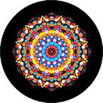 Mandala aus bunten m&m