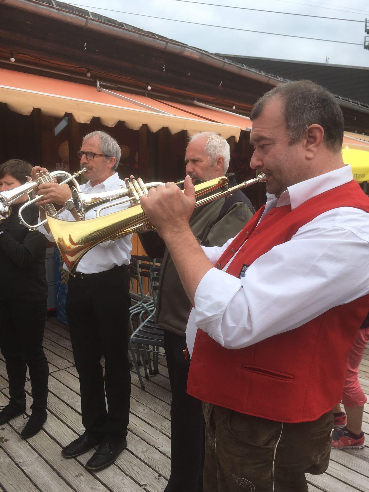 Zum Schluss spielten wir noch zusammen mit den Baholz-Musikanten