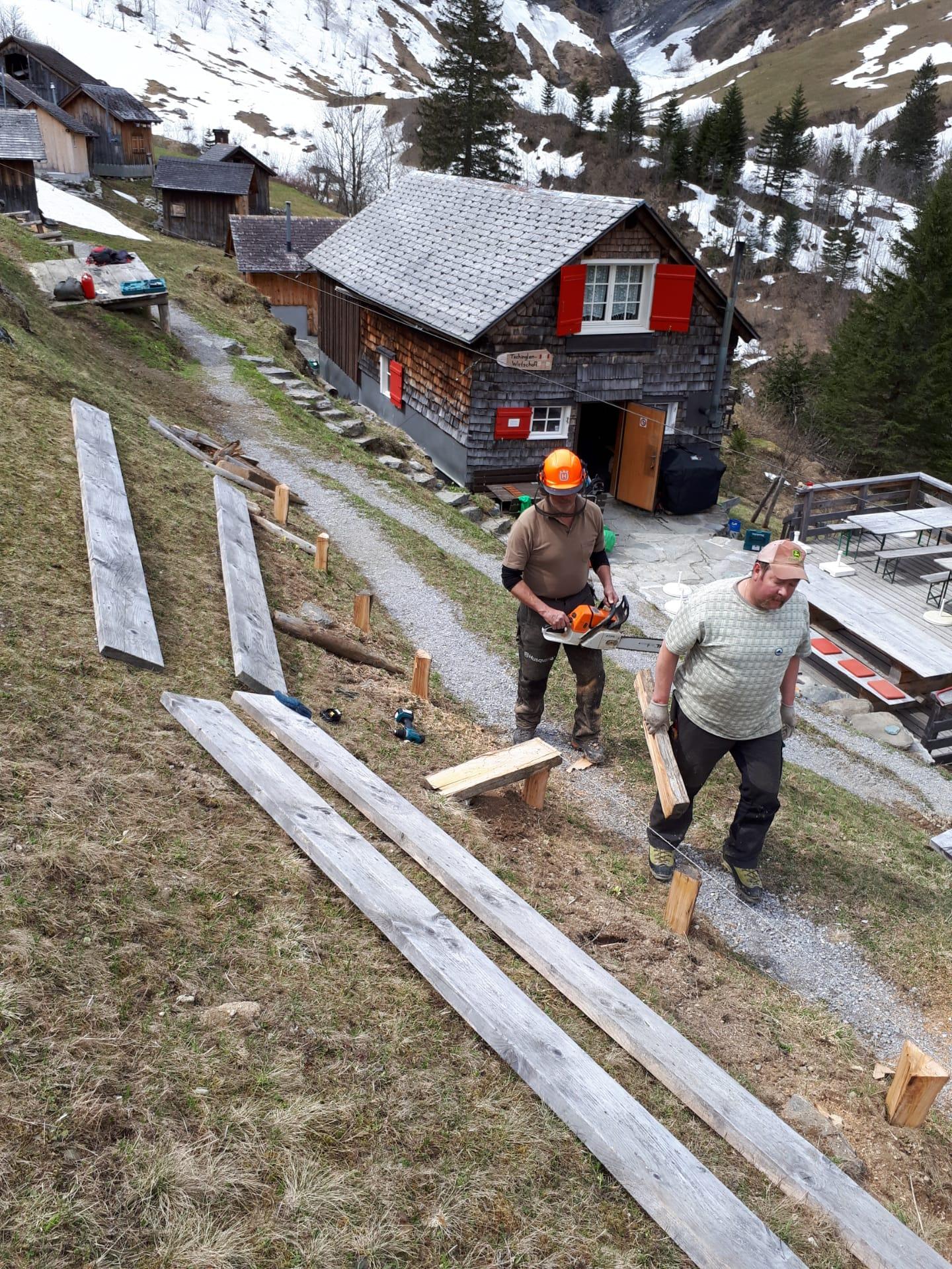 in noch fast winterlicher Umgebung fand der erste Arbeitstag am 18.05.2019 statt