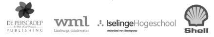 Logo's van referenties: de Persgroep, WML, Iselingen Hogeschool, Shell