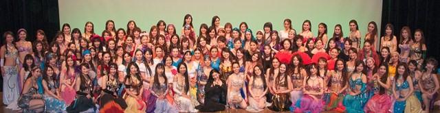 2013/02 Izumi oriental dance studio 本教室発表会集合写真