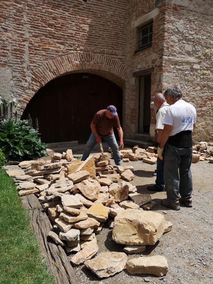 Stokage des pierres sur site