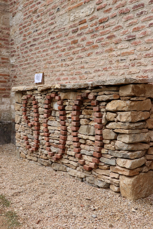 Le mur terminé angle droit