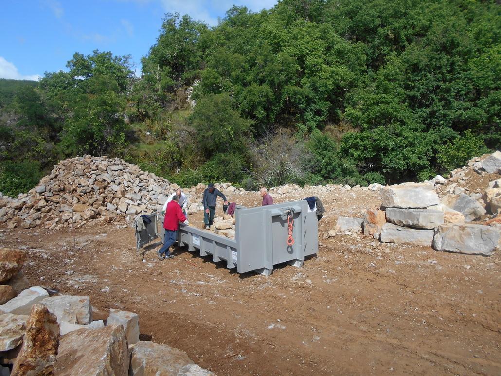 Recherche préalable de pierres en carrière