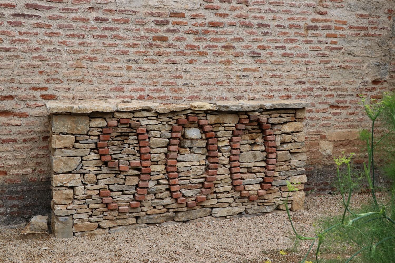 le mur terminé  vue de face