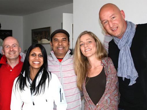 Peter Hummel, Kam Hummel, Bikram Choudhury, Bettina Gerny, Daniel Gerny