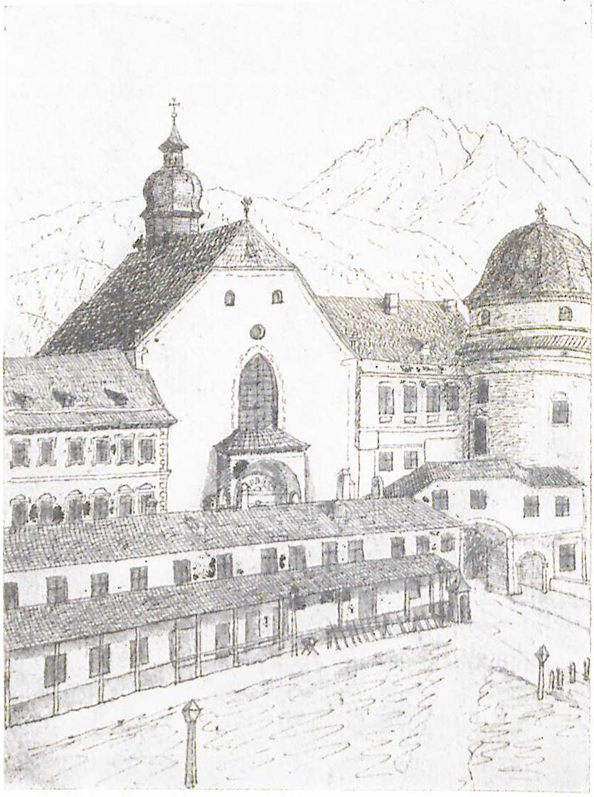 "Hofkirche ""Fröhlichgang"" 1857"
