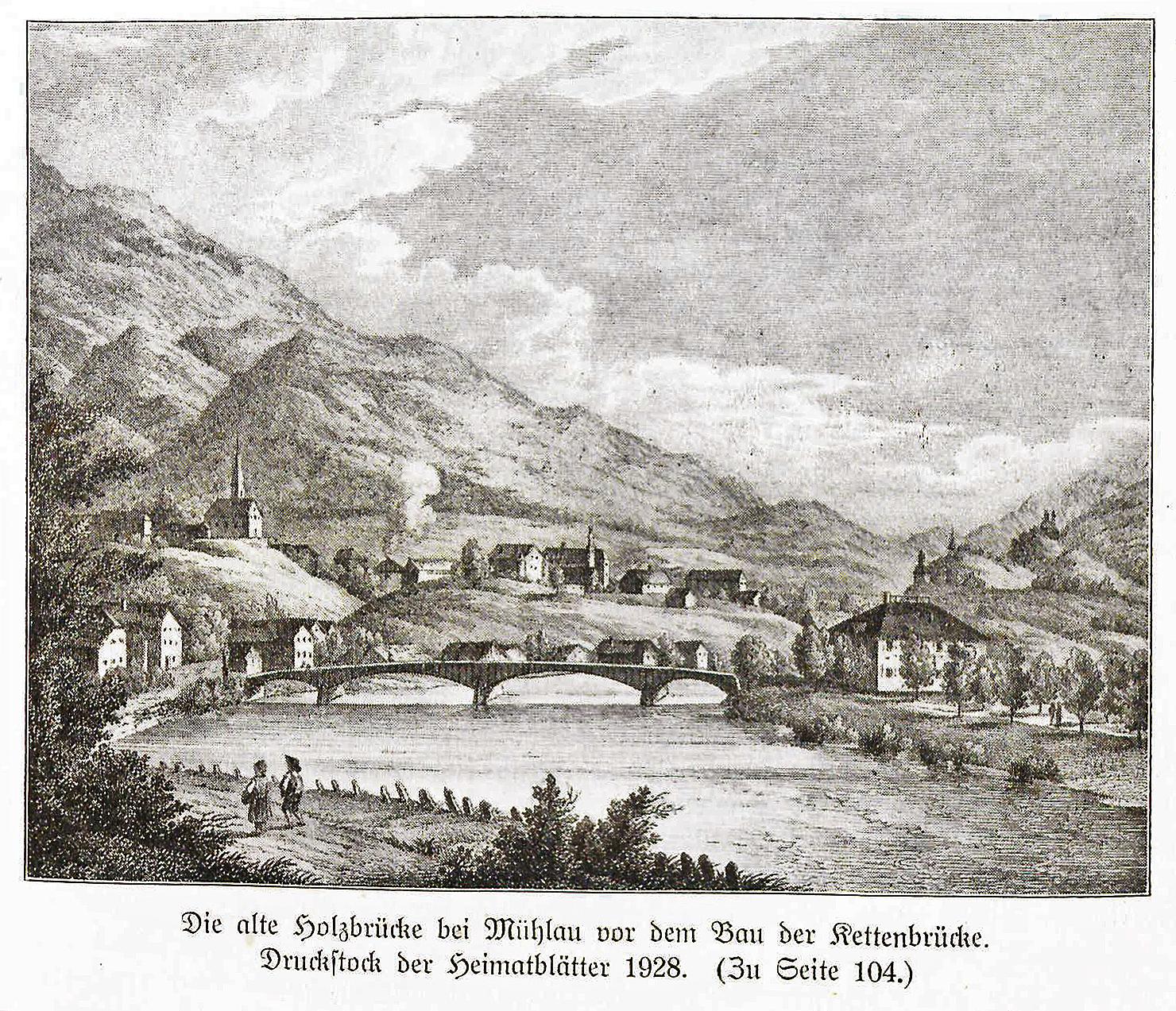 Mühlauer (Holz)Brücke ca 1600