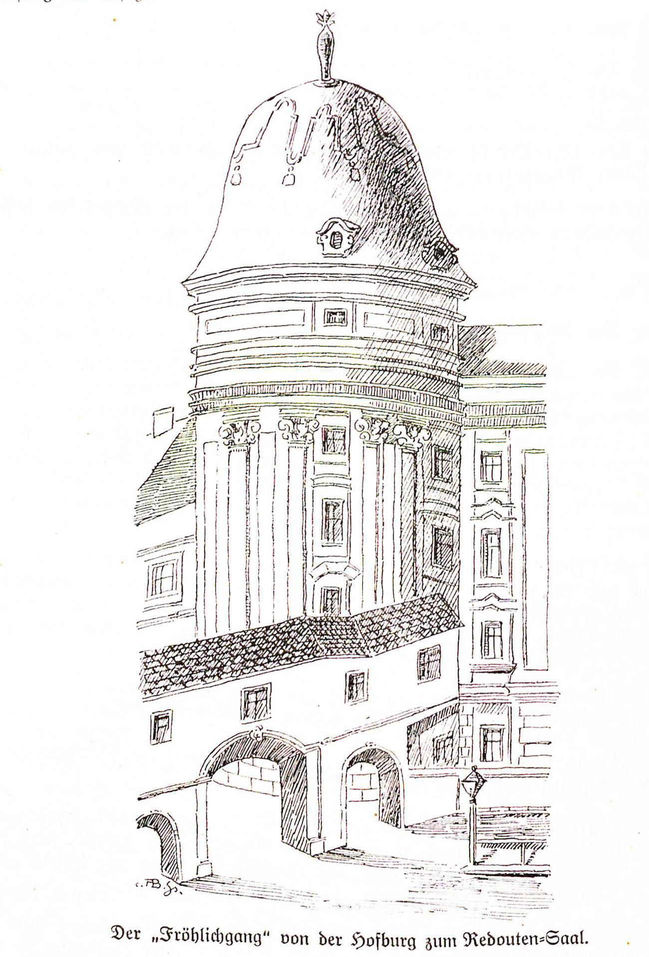 "Hofburg ""Fröhlichgang"" ca 1885"