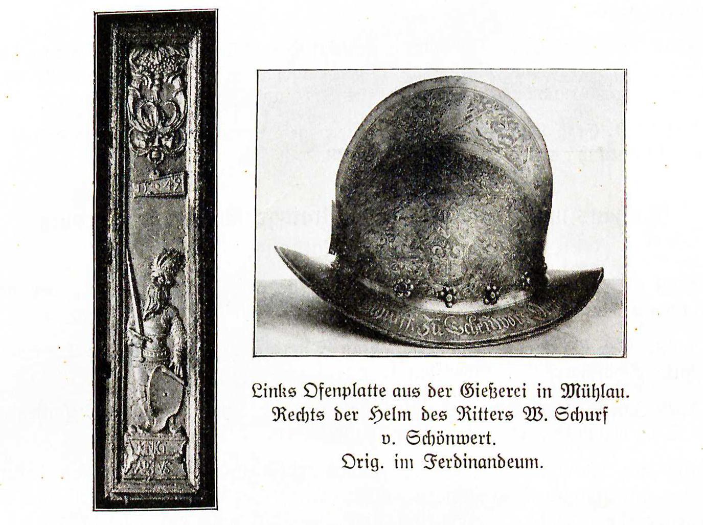 Gießerei Plattnerei Mühlau ca 1500