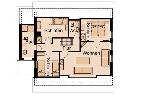 Grundriss : Haus Greve Wohnung 1 Obergeschoss.