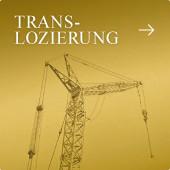 Translozierung - das Versetzen von Gebäuden - Kran