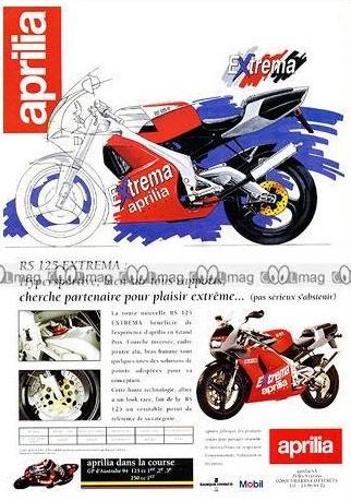 Pubblicità francese 1994 (a livello delle migliori pubblicità italiane di aprilia)