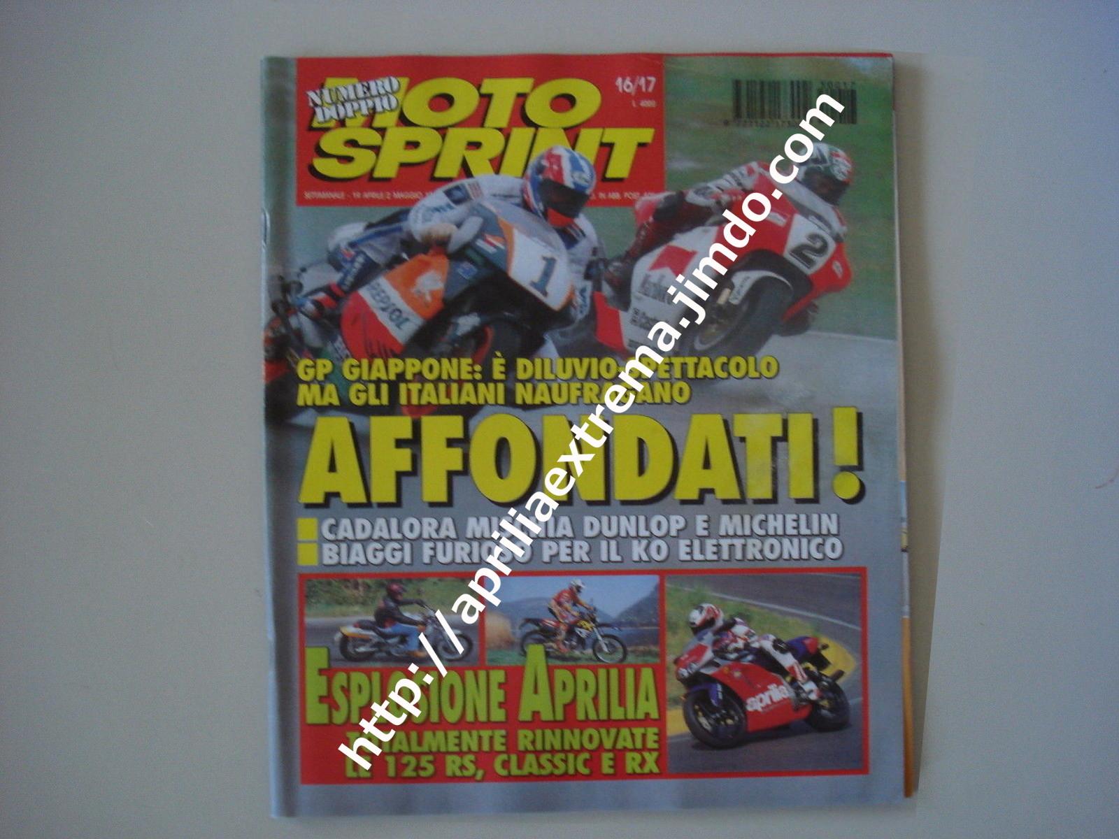 Motosprint 12 aprile-2 maggio 1995