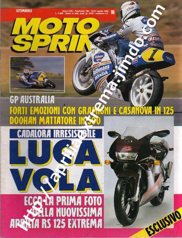 Motosprint 15-21 aprile 1992