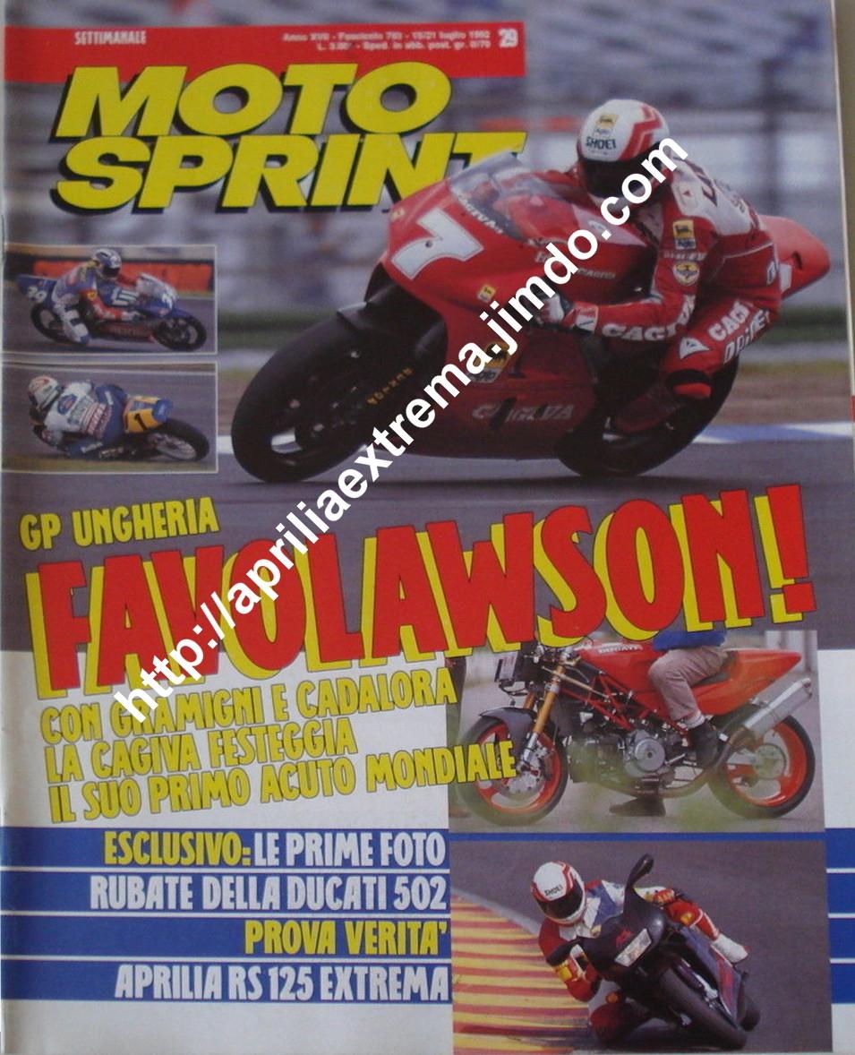 Motosprint 15-21 luglio 1992
