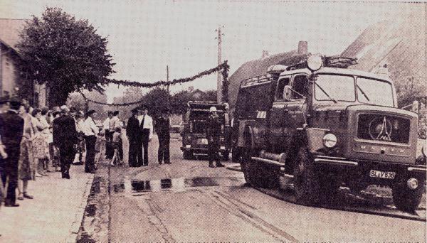 Foto SN: Amtsfeuerwehrtag 1979, Löschmanöver im Osterende