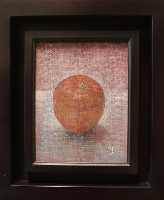 油彩SM「朝の林檎」赤木義光
