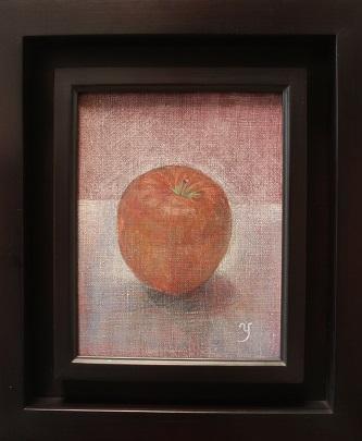 油彩SM「朝の林檎」