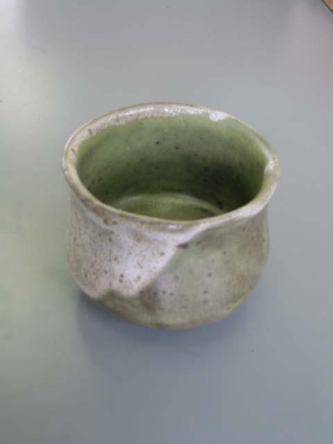 陶芸・板作り「抹茶ワン」