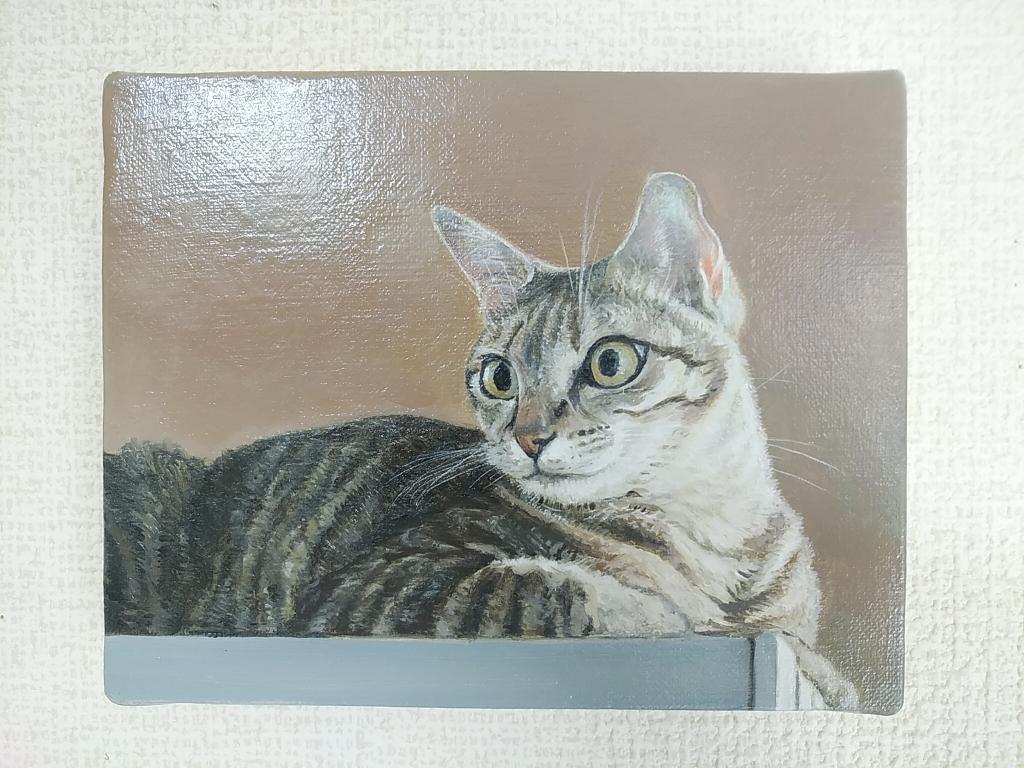 油彩0号「三匹の猫より」