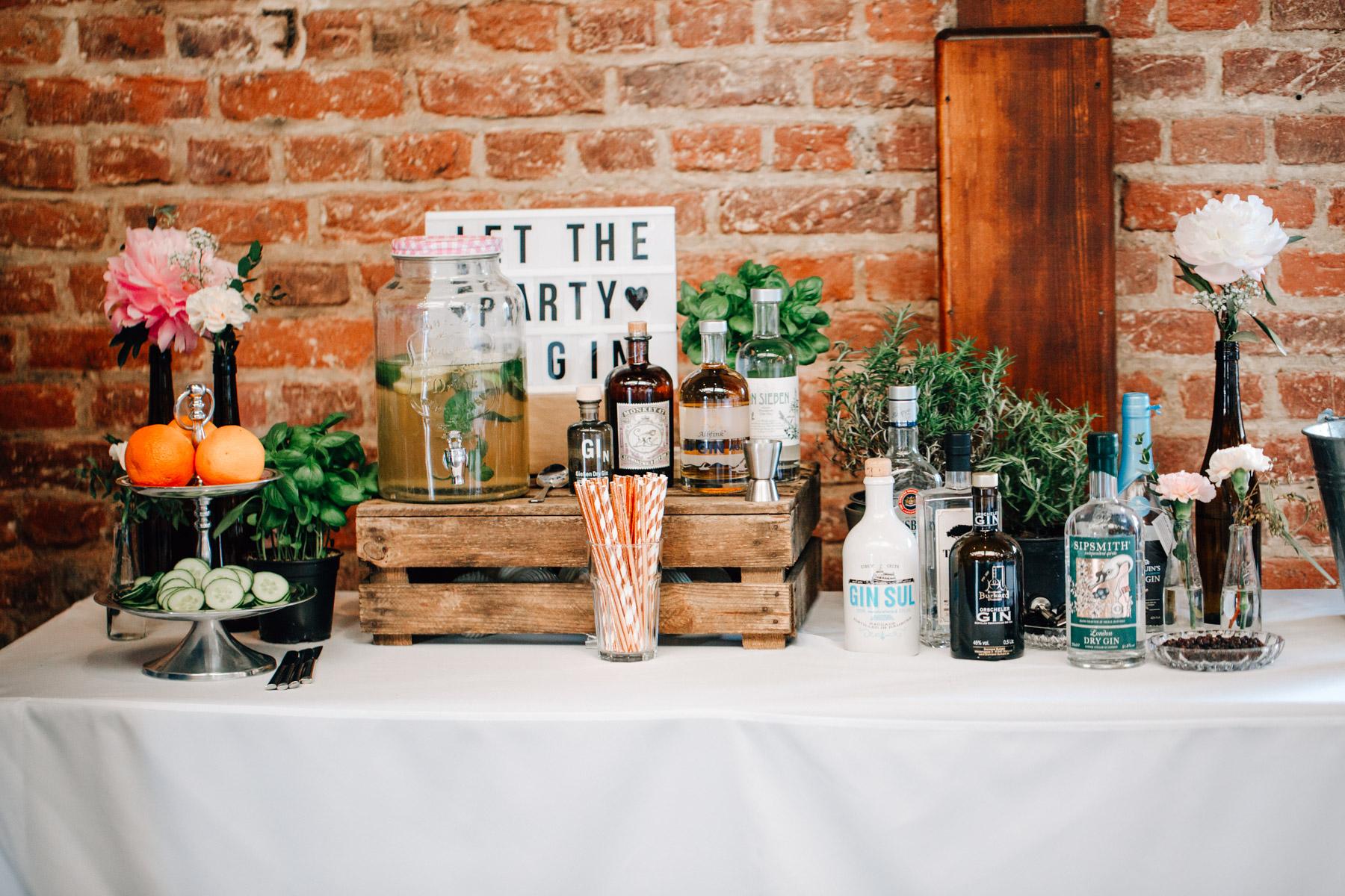 Hochzeit GIN Bar