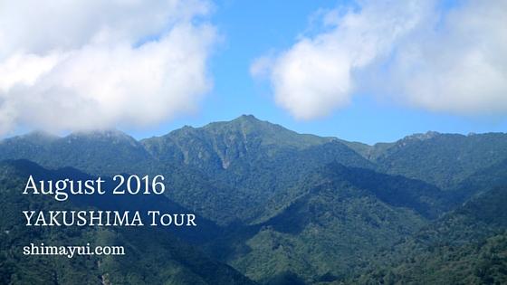 2016年8月屋久島ガイドツアー空き状況(もののけ姫の森、縄文杉、縄文杉1泊など)