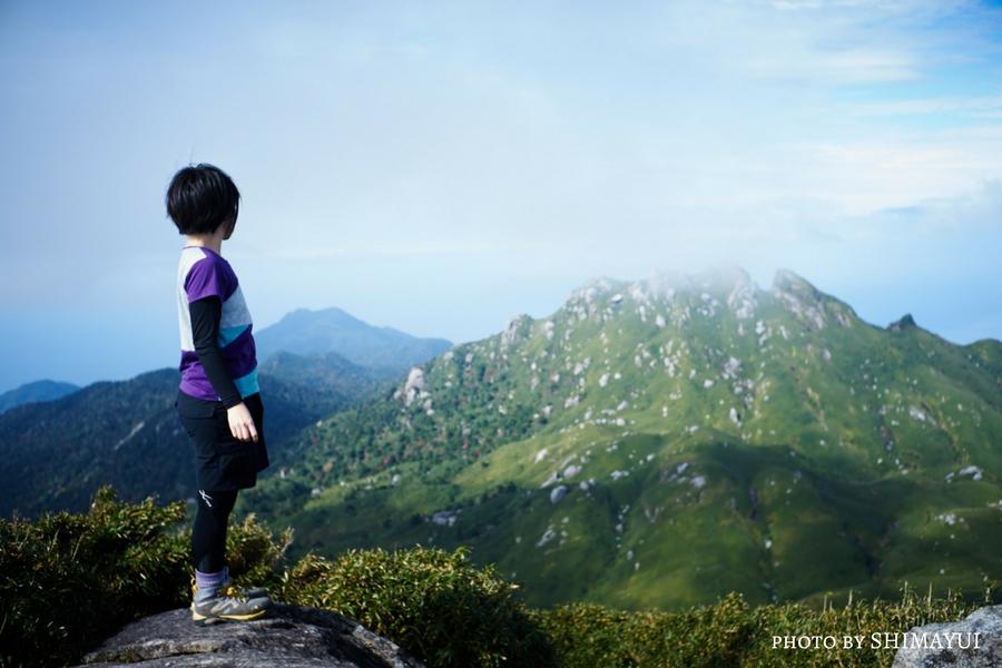 宮之浦岳山頂から永田岳(1887m)を望む。,宮之浦岳日帰りツアー