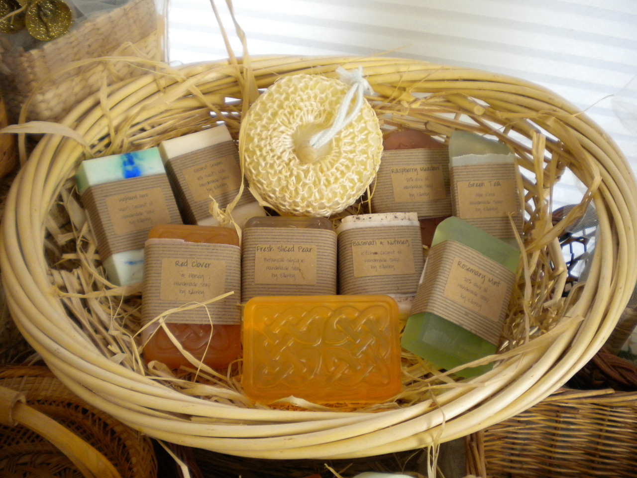 Handmade Soap Baskets : Ellenby gift baskets handmade