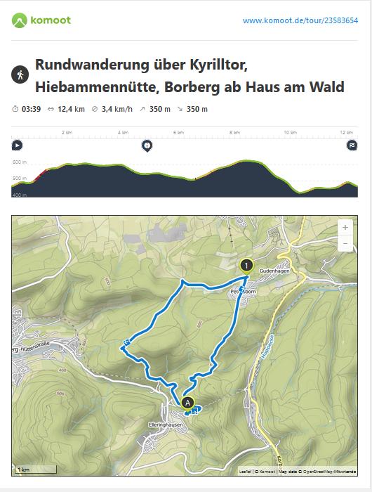 Samstag: heute laufen Sei über den Schusterknapp vorbei am Kyrilltor, auf dem Rothaarsteig zur Hiebammenhütte, wo Sie eine schöne Mittagseinkehr machen können, weiter geht es über den mytischen Borberg zurück