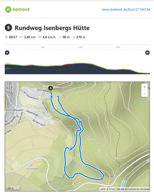 Rundweg unterhalb der Feuereiche mit Naturtretstelle und Bergbach - auf dem Rückweg sind wir einfach die Wiese runter gegangen - das hat komoot nicht aufgezeichnet