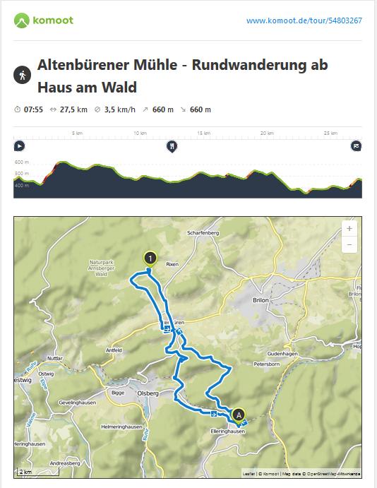 Rückweg ab Altenbüren gut mit dem Bus D30 und R31 möglich
