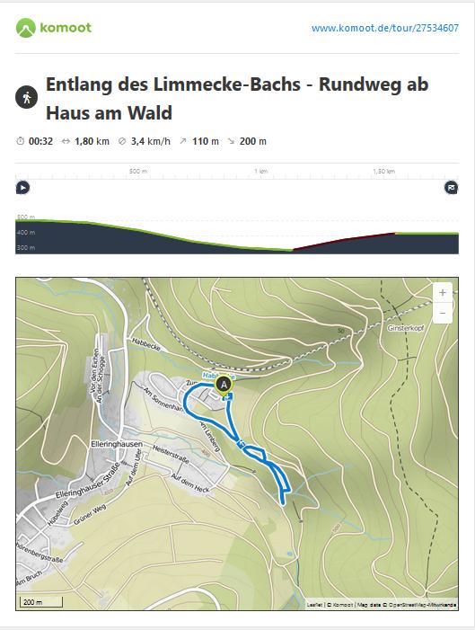 Kleine Runde am plätschernden Bergbach