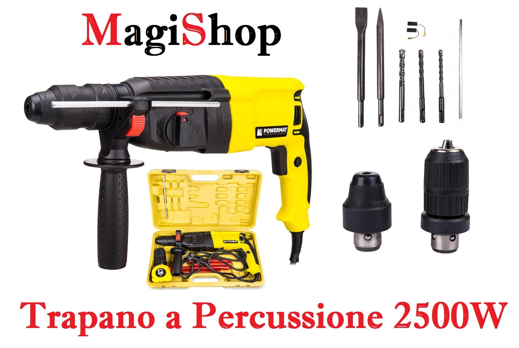 Martello perforatore (SDS + trapano) 2500W PM-MW-2500 + gancio autobloccante