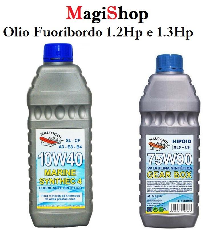 Olio Sintetico fuoribordo 1.2HP e 1.3HP