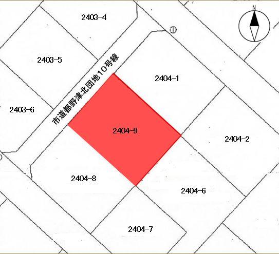 島根県江津市都野津町2404番9 図面 公図