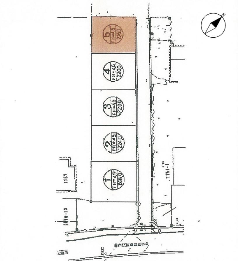 島根県江津市嘉久志町イ1755番1の内5 売土地の公図