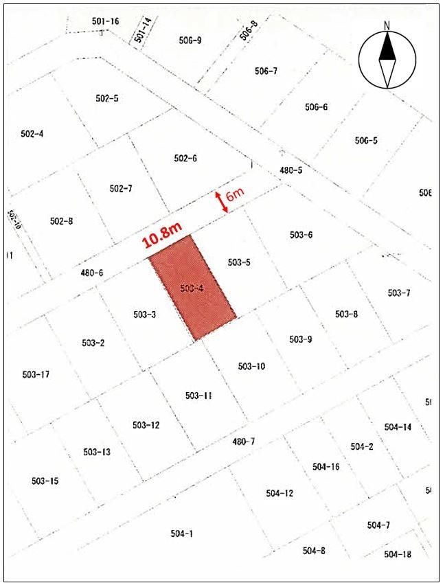 島根県江津市和木町503番4 図面 公図