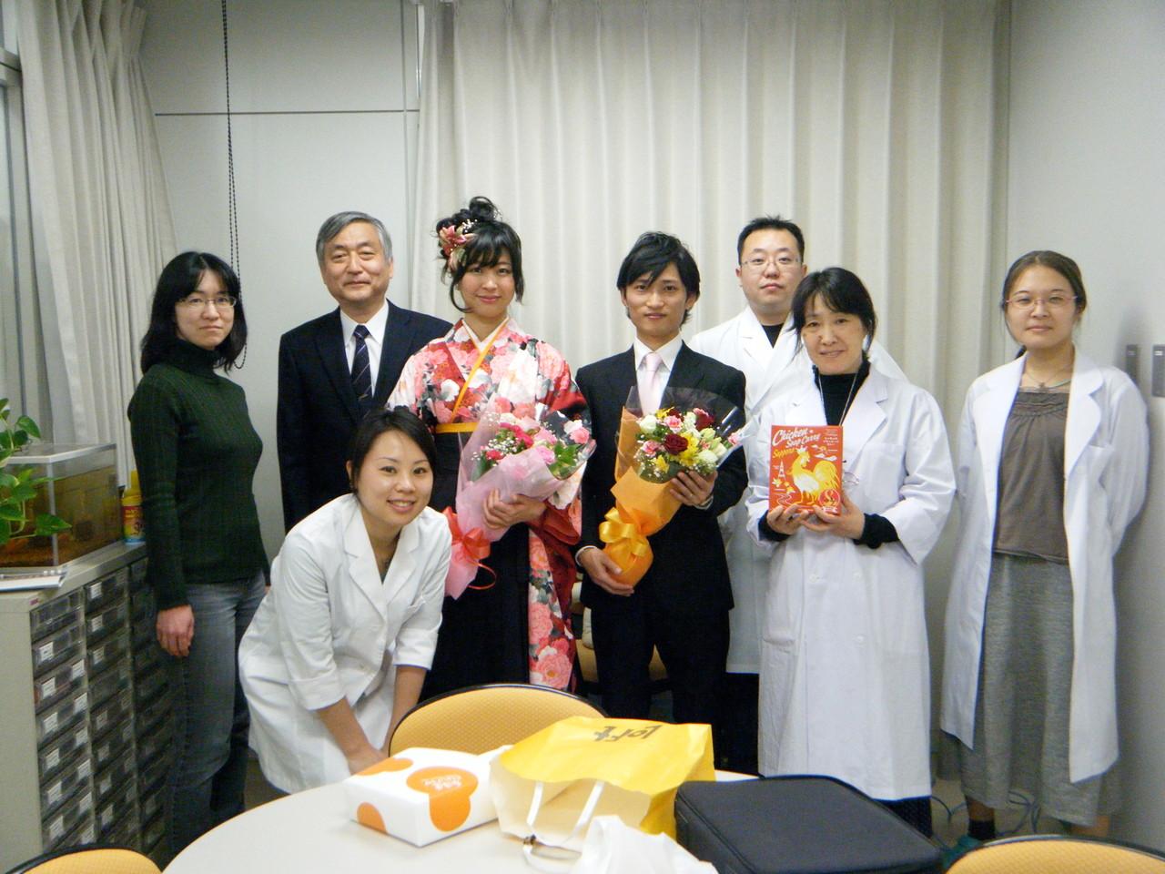 駒君、天田さん卒業式