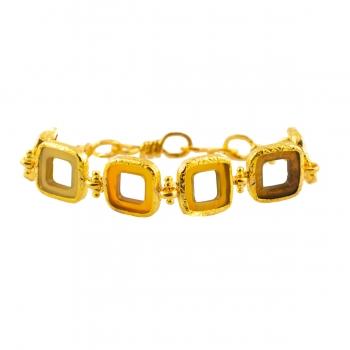 Armband Horn/Messing vergoldet