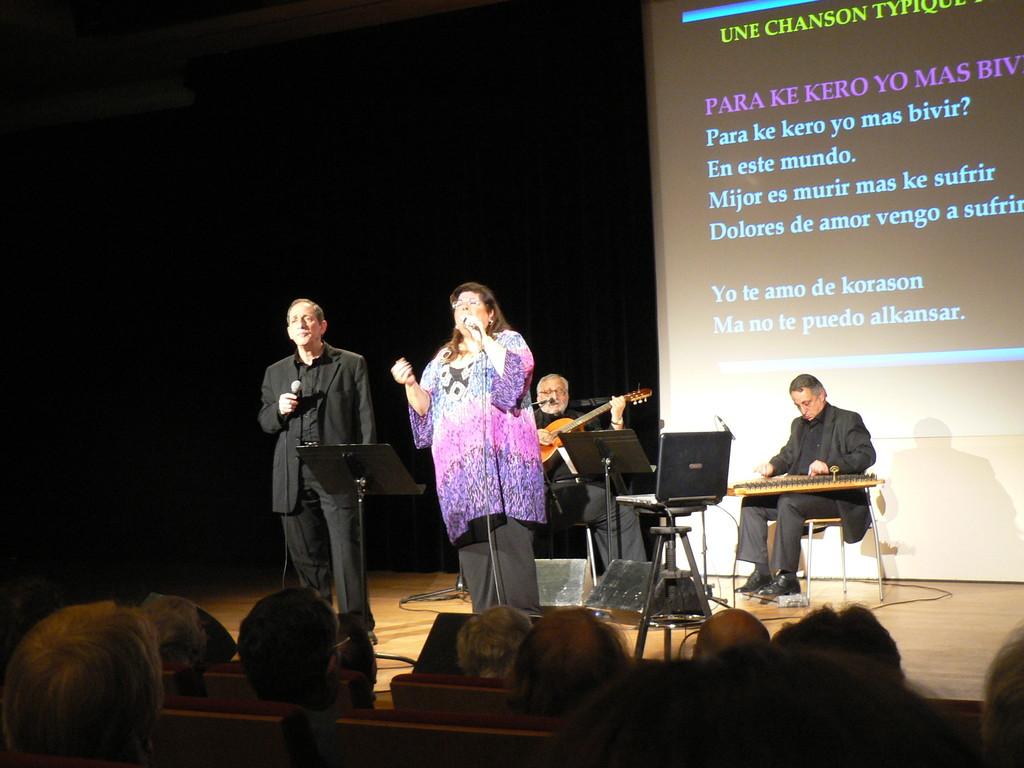 Concert à Paris du groupe Los Pasharos Sefaradis